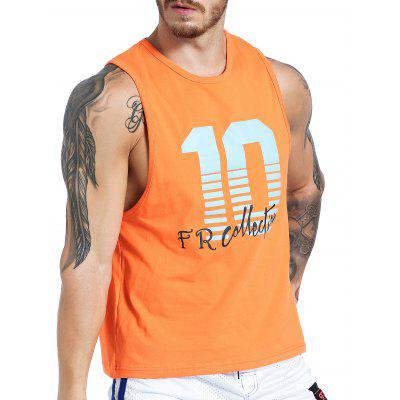 Crew Neck Number Graphic Print Tank TopSport Clothing<br>Crew Neck Number Graphic Print Tank Top<br><br>Material: Cotton, Spandex<br>Package Contents: 1 x Tank Top<br>Pattern Type: Letter<br>Type: Vest<br>Weight: 0.1900kg