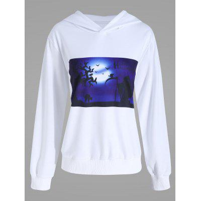Halloween Evening Plus Size Pullover Hoodie