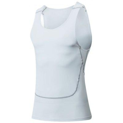 Crew Neck Suture Stretchy Fitness Vest
