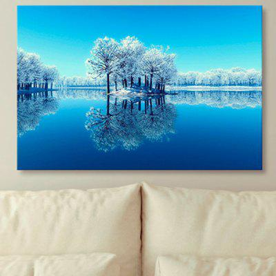 Snowscape Print Unframed Canvas Wall Art Painting