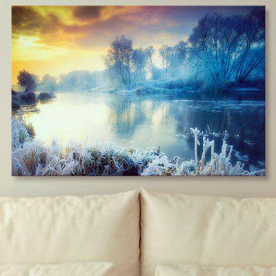 Unframed Wall Art Snowscape Print Canvas Painting