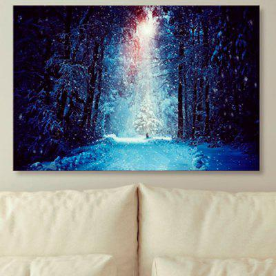 Unframed Canvas Wall Art Snowscape Print Painting