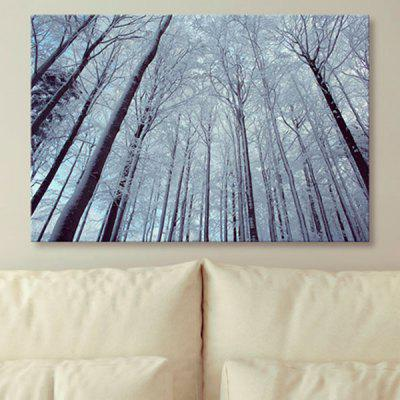 Snow Forest Print Unframed Canvas Wall Art Painting