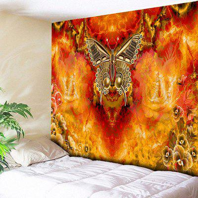 Butterfly Flower Print Wall Decor Tapestry