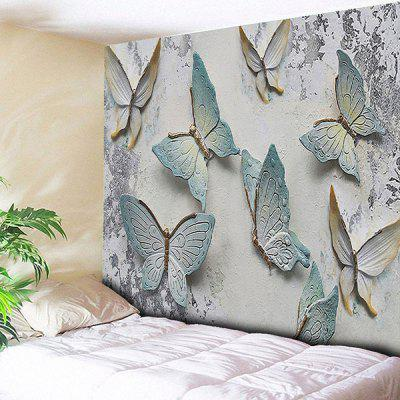 Butterfly Print Mottled Wall Decor Tapestry
