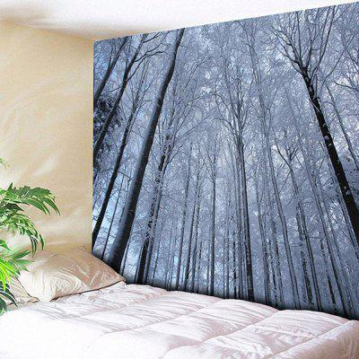 Snow Forest Print Wall Hanging Tapestry