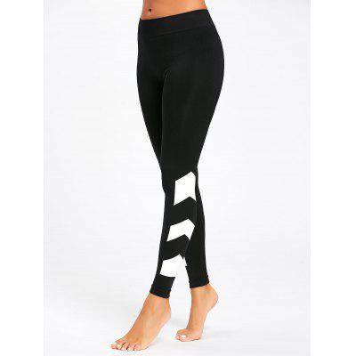 Arrow Color Block Yoga Leggings