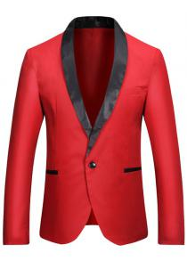 152608025d7e Casual Shawl Collar One Button Tuxedo Fitted Blazer Jacket Coat for Men