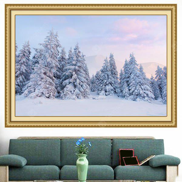 Multipurpose Snowscape Forest Dekorative Wand Kunst Malerei