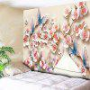 Wall Hanging Butterfly Flower Print Tapestry - PINK