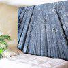 Snow Forest Print Wall Hanging Tapestry - BLUE GRAY