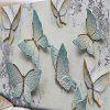 Butterfly Print Mottled Wall Decor Tapestry - GREY WHITE