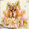 Flower Elk Print Wall Decor Tapestry - COLORMIX