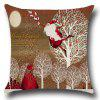 Buy Santa Claus Trees Pattern Decorative Pillow Case COLORFUL