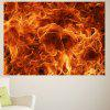 Flame Printed Decorative Multipurpose Wall Art Sticker - COLORFUL