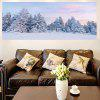 Multipurpose Snowscape Forest Dekorative Wand Kunst Malerei - GRAU
