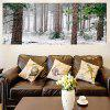 Snowing Forest Multifunction Decorative Wall Art Pintura - VERDE