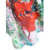 Christmas Santa Claus Lace Plus Size T-shirt - GREEN