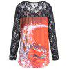 Christmas Santa Claus Lace Plus Size T-shirt - DARKSALMON