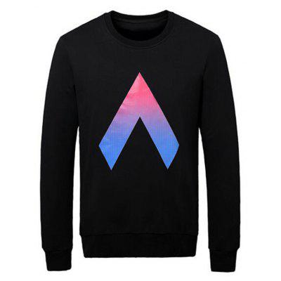 Inverted V Print Sweatshirt
