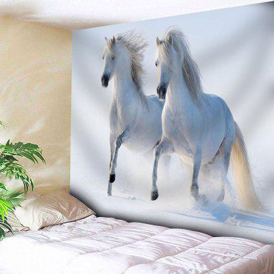 Buy WHITE Animal Wall Art Horse Print Tapestry for $22.23 in GearBest store