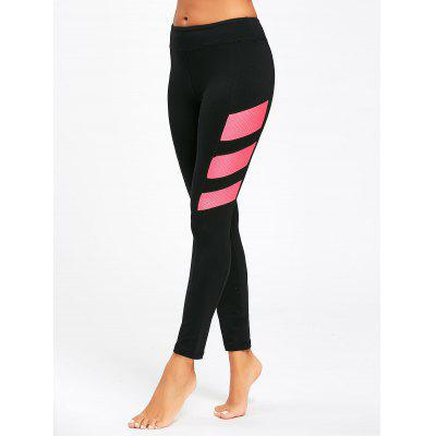 Contrast High Rise Stretch Fitness Leggings