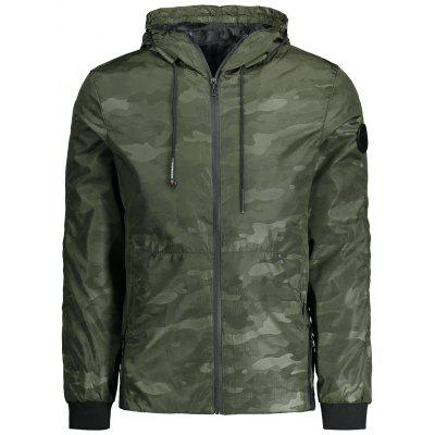 Buy ARMY GREEN 3XL Mens Hooded Camo Field Jacket for $38.12 in GearBest store