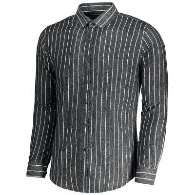 Flannel Striped Men ShirtMens Shirts<br>Flannel Striped Men Shirt<br><br>Collar: Turn-down Collar<br>Material: Polyester<br>Package Contents: 1 x Shirt<br>Shirts Type: Casual Shirts<br>Sleeve Length: Full<br>Weight: 0.3450kg