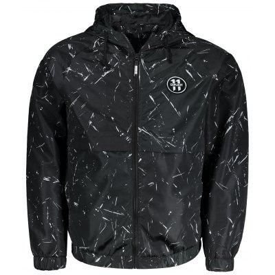 Buy BLACK XL Hooded Patch Windbreaker Jacket for $29.79 in GearBest store
