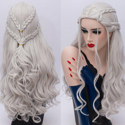 Long Braids Wavy Game of Thrones Daenerys Targaryen Cosplay Synthetic Wig