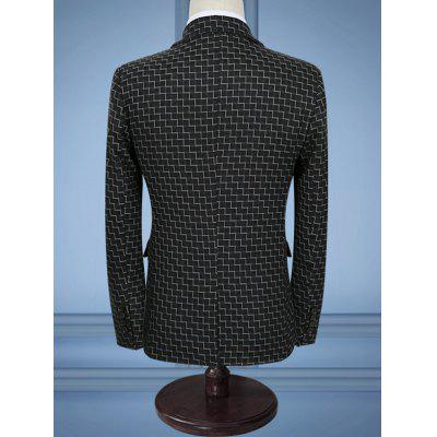 Zigzag Pattern Slim Fit Three Piece Business SuitMens Blazers<br>Zigzag Pattern Slim Fit Three Piece Business Suit<br><br>Closure Type: Single Breasted<br>Front Style: Flat<br>Material: Cotton, Polyester<br>Package Contents: 1 x Blazer  1 x Pants  1 x Waistcoat<br>Pant Closure Type: Zipper Fly<br>Shirt Length: Regular<br>Type: Suits<br>Weight: 1.7000kg