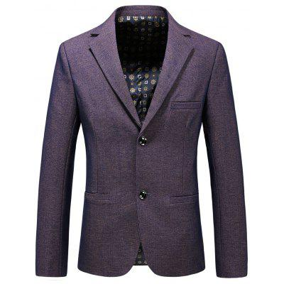 Single Breasted Lapel Collar Formal Blazer