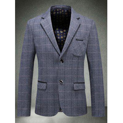 Single Breasted Chest Pocket Check BlazerMens Blazers<br>Single Breasted Chest Pocket Check Blazer<br><br>Closure Type: Single Breasted<br>Material: Polyester<br>Package Contents: 1 x Blazer<br>Shirt Length: Regular<br>Sleeve Length: Long Sleeves<br>Weight: 0.7800kg