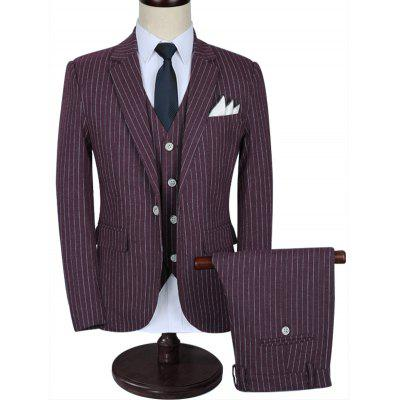 Classic Fit Pinstripe Three-piece Suit