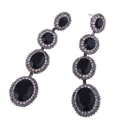 Rhinestone Faux Crystal Sparkly Dangle EarringsEarrings<br>Rhinestone Faux Crystal Sparkly Dangle Earrings<br><br>Earring Type: Drop Earrings<br>Gender: For Girls<br>Material: Rhinestone<br>Metal Type: Alloy<br>Package Contents: 1 x Earrings<br>Shape/Pattern: Water Drop<br>Style: Noble and Elegant<br>Weight: 0.0250kg