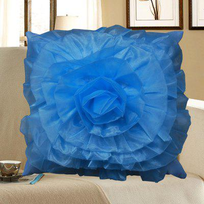 Buy Stereoscopic Rose Shape Pillow Case, BLUE, Home & Garden, Home Textile, Tapestries for $8.25 in GearBest store