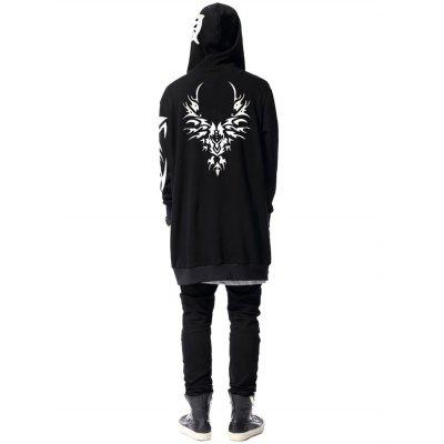 Wings Graphic Print Luminous Longline HoodieMens Hoodies &amp; Sweatshirts<br>Wings Graphic Print Luminous Longline Hoodie<br><br>Material: Cotton, Polyester<br>Package Contents: 1 x Hoodie<br>Patterns: 3D,Print<br>Shirt Length: Long<br>Sleeve Length: Full<br>Style: Fashion<br>Weight: 0.4400kg