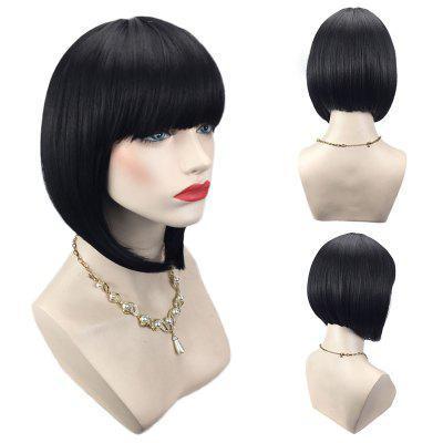 Short Full Bang Straight Inverted Bob Synthetic WigSynthetic Wigs<br>Short Full Bang Straight Inverted Bob Synthetic Wig<br><br>Bang Type: Full<br>Cap Construction: Capless<br>Length: Short<br>Length Size(CM): 35<br>Material: Synthetic Hair<br>Package Contents: 1 x Wig<br>Style: Bob<br>Type: Full Wigs<br>Weight: 0.1550kg