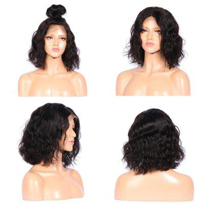 Medium Middle Part Shaggy Natural Wavy Lace Front Synthetic Wig