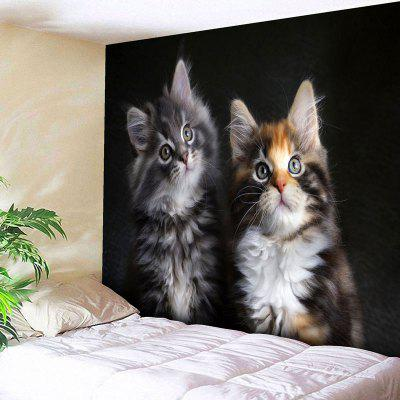 Buy BLACK Bedroom Decor Cat Print Wall Tapestry for $14.10 in GearBest store