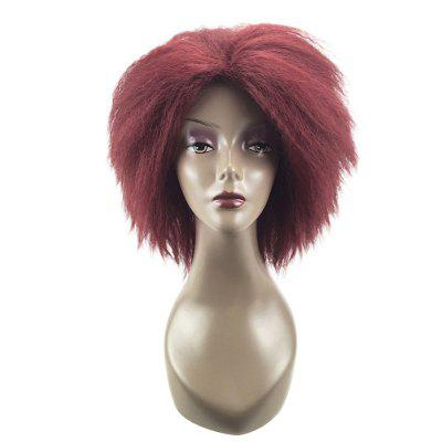 Medium Center Parting Shaggy Kinky Straight Synthetic WigSynthetic Wigs<br>Medium Center Parting Shaggy Kinky Straight Synthetic Wig<br><br>Bang Type: Middle<br>Cap Construction: Capless<br>Length: Medium<br>Length Size(CM): 40<br>Material: Synthetic Hair<br>Package Contents: 1 x Wig<br>Style: Silky Straight<br>Type: Full Wigs<br>Weight: 0.1450kg