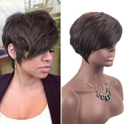 Short Side Fringe Layered Straight Synthetic Wig