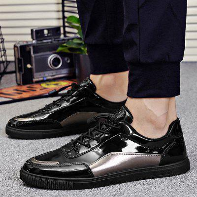 Patent Leather Lace Up Casual ShoesCasual Shoes<br>Patent Leather Lace Up Casual Shoes<br><br>Closure Type: Lace-Up<br>Embellishment: None<br>Gender: For Men<br>Occasion: Casual<br>Outsole Material: Rubber<br>Package Contents: 1 x Casual Shoes (pair)<br>Pattern Type: Others<br>Season: Spring/Fall<br>Shoe Width: Medium(B/M)<br>Toe Shape: Round Toe<br>Toe Style: Closed Toe<br>Upper Material: Patent Leather<br>Weight: 1.1400kg