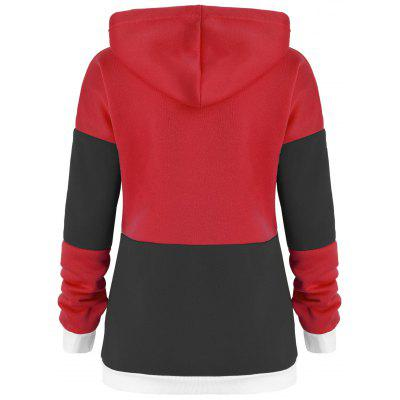 Drawstring Color Block Tunic HoodieSweatshirts &amp; Hoodies<br>Drawstring Color Block Tunic Hoodie<br><br>Material: Cotton, Polyester<br>Package Contents: 1 x Hoodie<br>Pattern Style: Others<br>Season: Fall, Spring<br>Shirt Length: Regular<br>Sleeve Length: Full<br>Style: Fashion<br>Weight: 0.4200kg