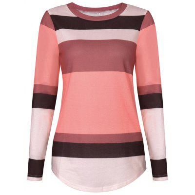 Sequine Patch Color Block Long Sleeve Tee