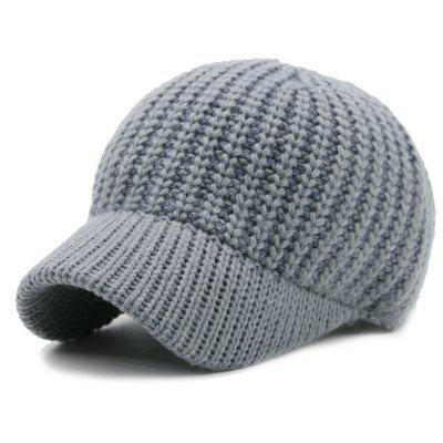 Plain Design Ribbed Knit Baseball Hat
