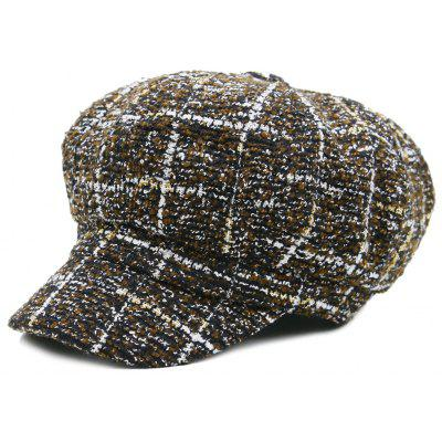 Casual Grid Newsboy Hat
