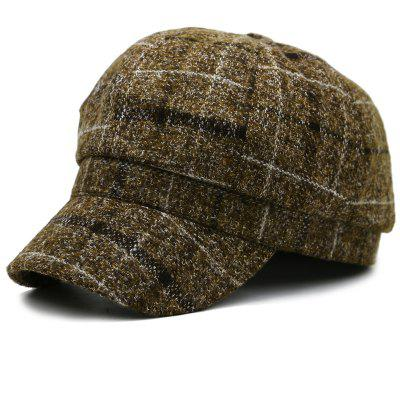 Casual Plaid Pattern Newsboy Hat