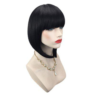 Short Full Bang Straight Inverted Bob Synthetic Wig