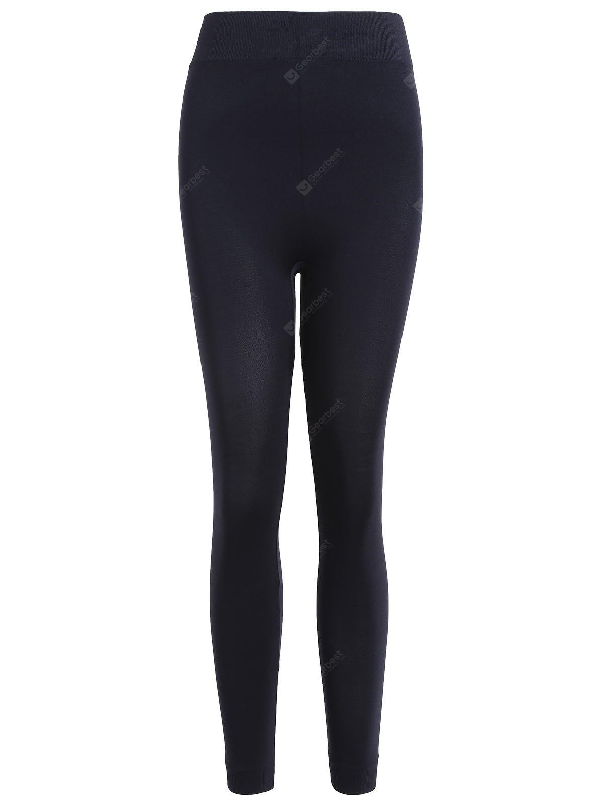 BLACK Cropped Sport Leggings
